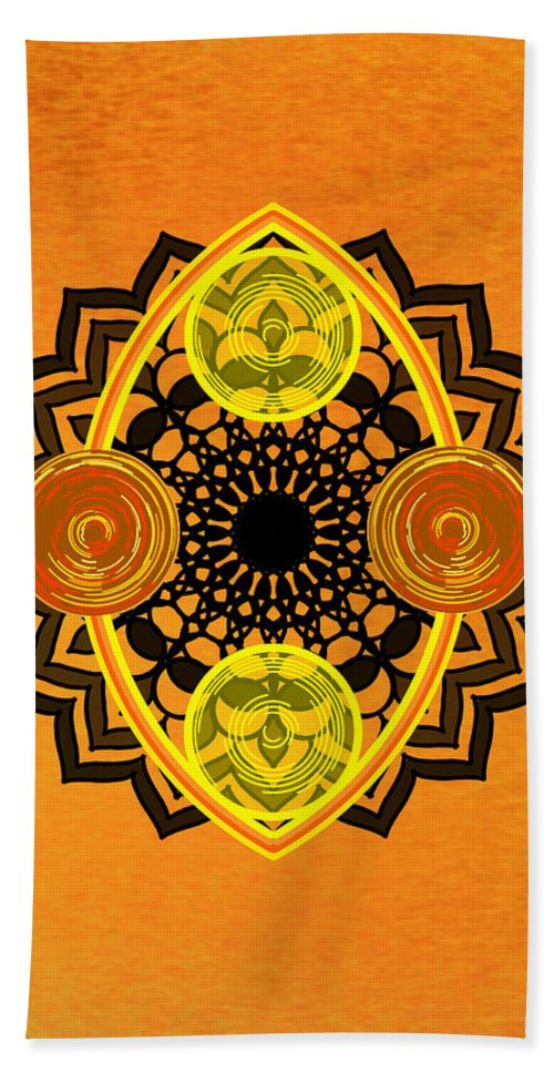 Sacred Geometry Bath Towel featuring the digital art Untitled by Giuseppe Barilla