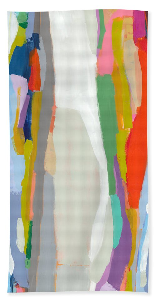 Abstract Hand Towel featuring the painting Aaron And His Greens by Claire Desjardins