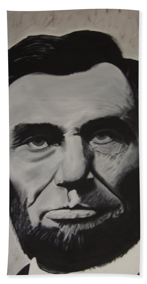 16th President Bath Towel featuring the painting Abe Lincoln by Dean Stephens