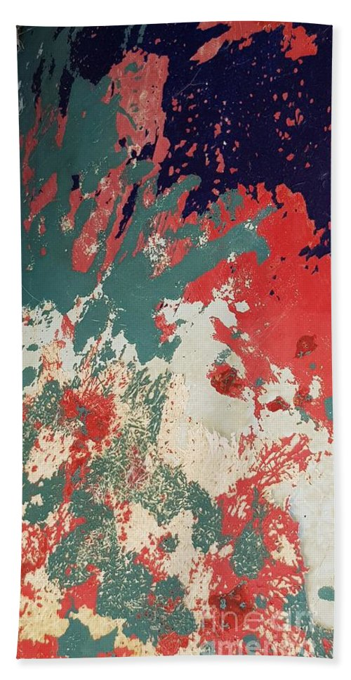 Abstract Bath Towel featuring the photograph Abstract Boat by Paola Baroni