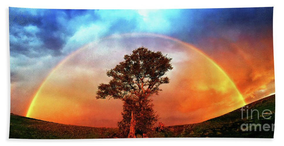 Panorama Hand Towel featuring the photograph After The Storm, California Foothills            by Don Schimmel