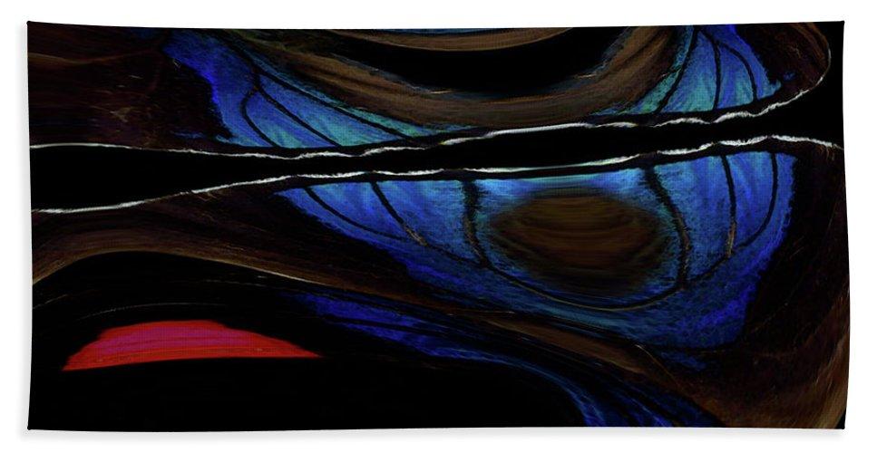 Butterfly Hand Towel featuring the photograph Aile De Papillon Bleu by Carel Schmidlkofer