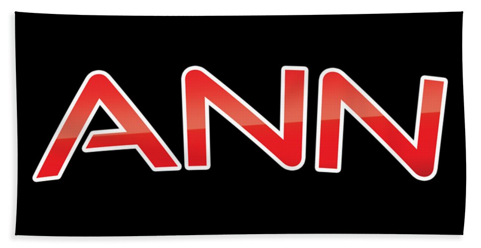 Ann Hand Towel featuring the digital art Ann by TintoDesigns