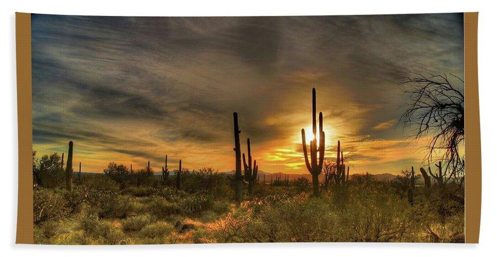 Arizona Bath Sheet featuring the photograph Arizona Sunset by Tim Hoffelmeyer