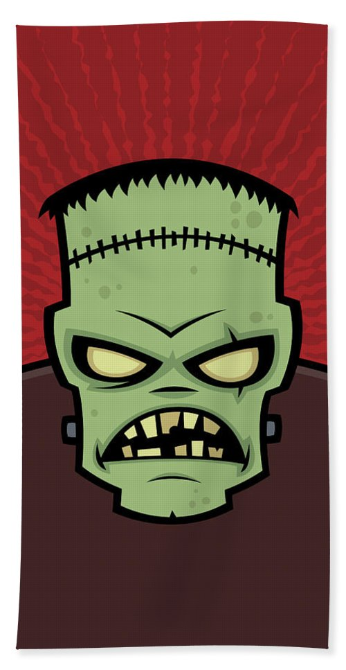 Frankenstein Hand Towel featuring the digital art Frankenstein Monster by John Schwegel