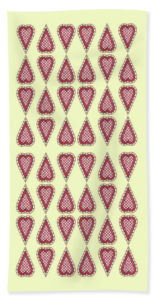 Hearts Hand Towel featuring the painting Checkered by Shelley Wallace Ylst