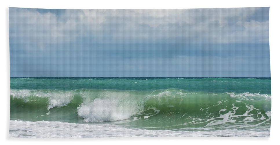 Ocean Hand Towel featuring the photograph Atlantic Ocean by Zina Stromberg