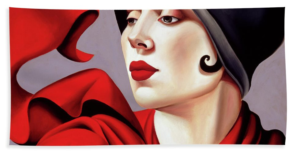 30s Bath Towel featuring the painting Autumn Zephyr by Catherine Abel