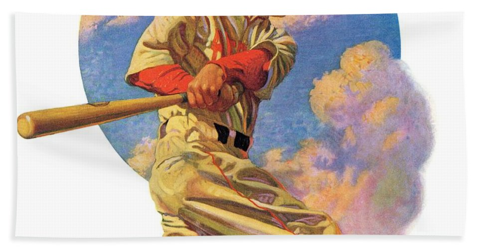 Baseball Bath Towel featuring the drawing Baseball Batter by J.f. Kernan