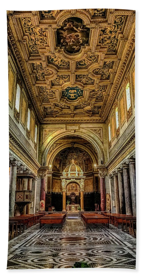 Basilica Di San Crisogono Hand Towel featuring the photograph Basilica Di San Crisogono by Joseph Yarbrough