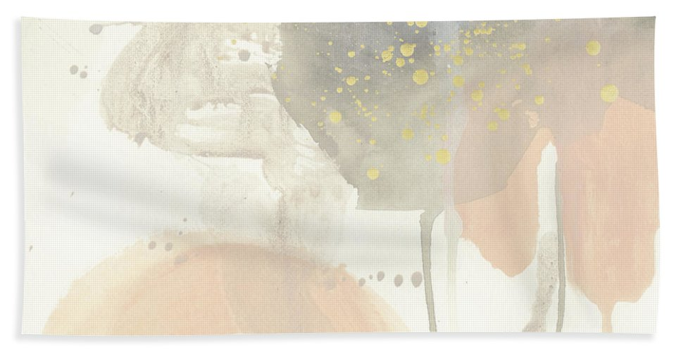Abstract Bath Towel featuring the painting Blush Beacon II by June Erica Vess