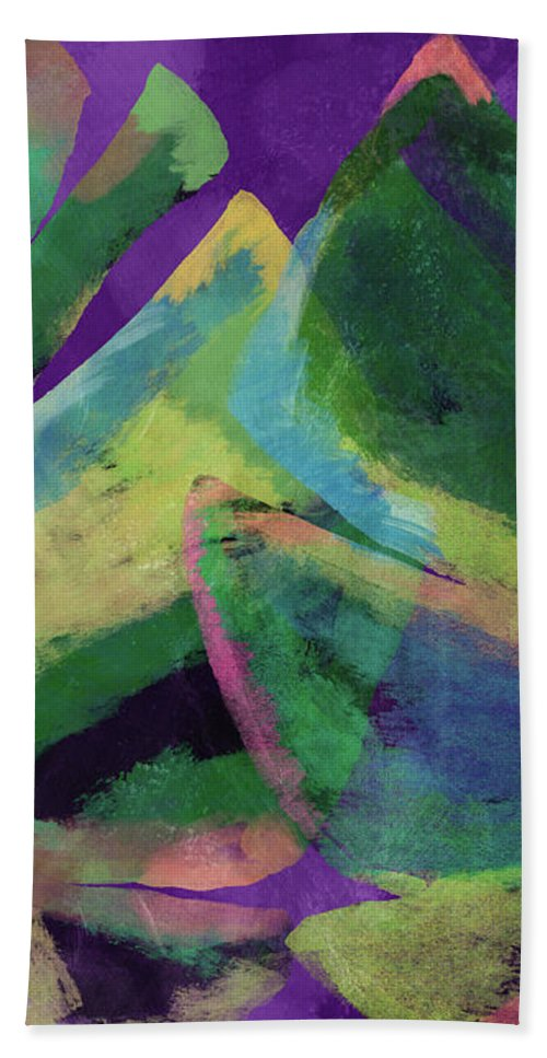 Tropical Art Bath Towel featuring the mixed media Bold Tropical Dreams- Art by Linda Woods by Linda Woods