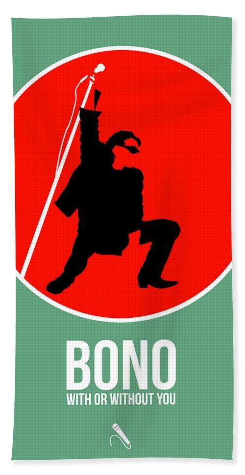 U2 Hand Towel featuring the digital art Bono by Naxart Studio