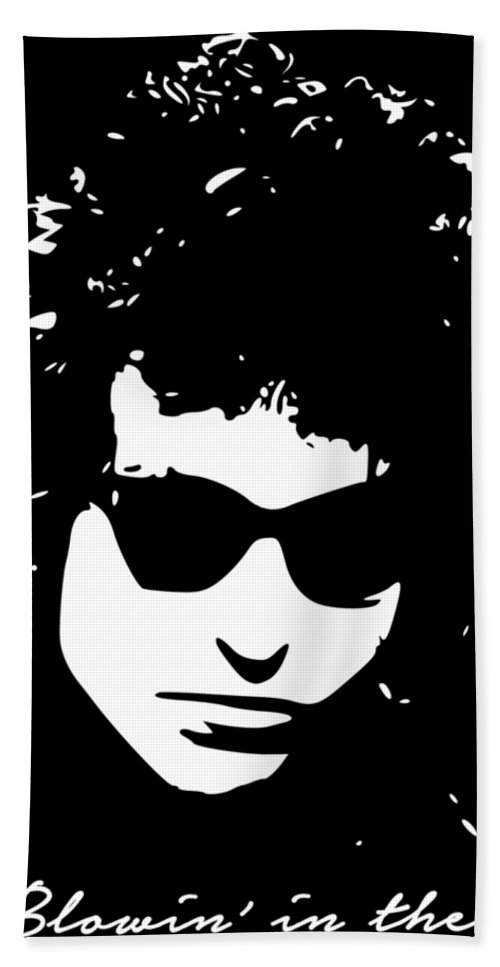 Bob Dylan Bath Towel featuring the digital art Bowin' In The Wind by Filip Schpindel