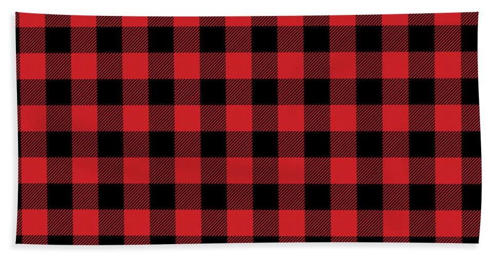 graphic about Printable Towels referred to as Buffalo Plaid Rustic Lumberjack Buffalo Verify Behavior Hand Towel