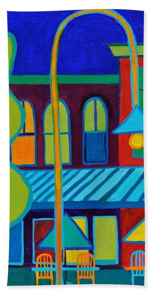 Vermont Bath Sheet featuring the painting Burlington VT street scene by Debra Bretton Robinson