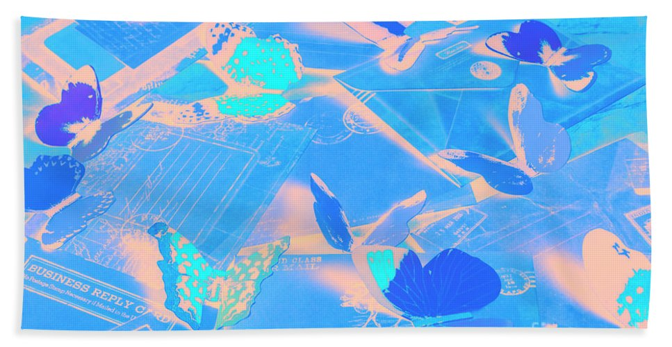 Abstract Bath Towel featuring the photograph Butterfly Effects by Jorgo Photography - Wall Art Gallery