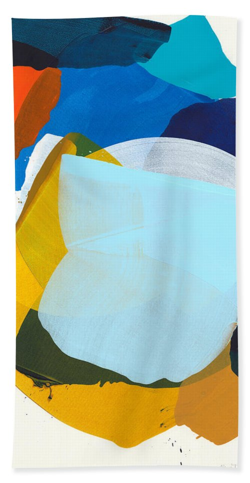 Abstract Bath Towel featuring the painting California 05 by Claire Desjardins