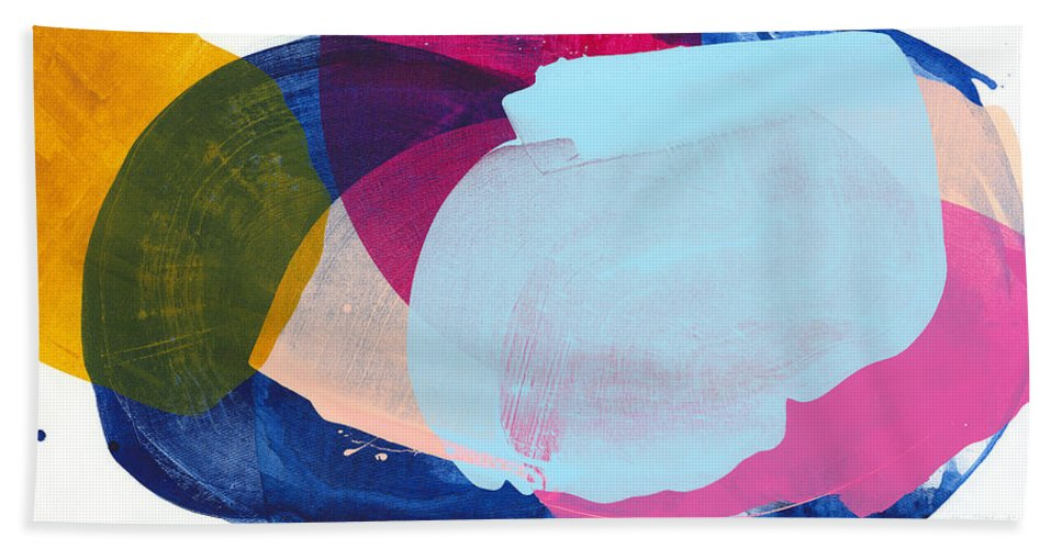 Abstract Hand Towel featuring the painting California 06 by Claire Desjardins