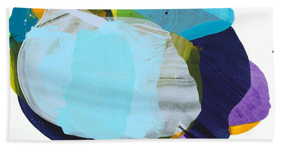 Abstract Hand Towel featuring the painting California 10 by Claire Desjardins