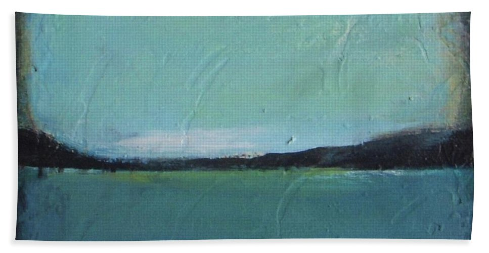 Ocean Bath Sheet featuring the painting Calm Ocean 2 by Vesna Antic