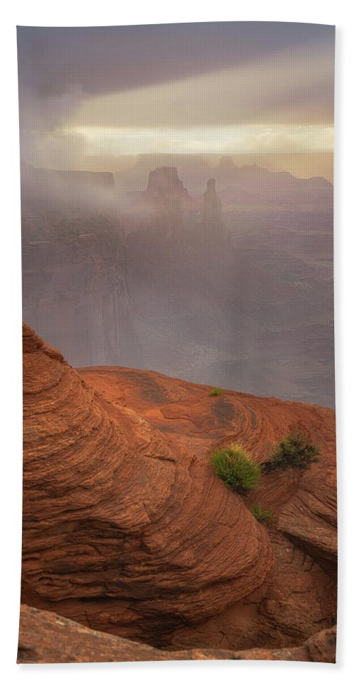 Utah Bath Towel featuring the photograph Canyon Moods by Darren White