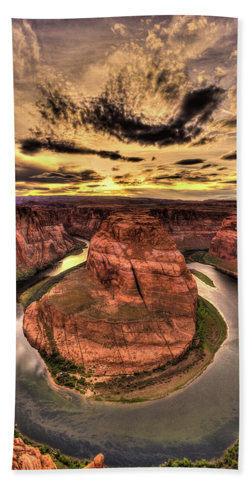 Canyons Bend Bath Sheet featuring the photograph Canyons Bend Vertical by Tayne Hunsaker