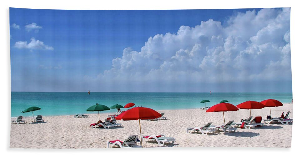 Ocean Bath Towel featuring the photograph Caribbean Blue by Stephen Anderson