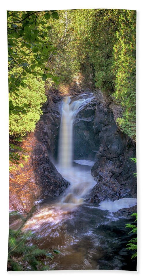 Waterfall Bath Sheet featuring the photograph Cascade Falls by Susan Rissi Tregoning