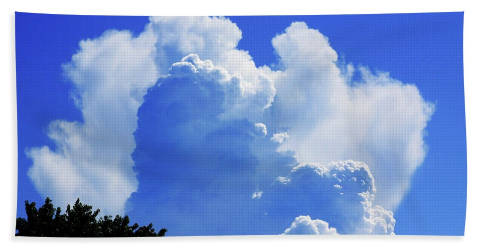 Clouds Bath Towel featuring the photograph Clouds one by John Lautermilch