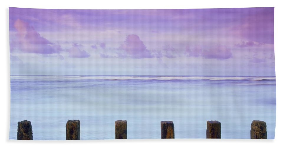 Trinidad Bath Towel featuring the photograph Cotton Candy Skies Over The Sea by Trinidad Dreamscape