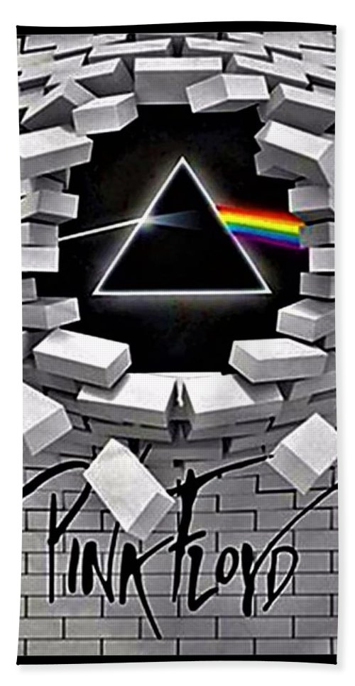 Pink Floyd Hand Towel featuring the photograph Dark Side Of The Wall by Rob Hans