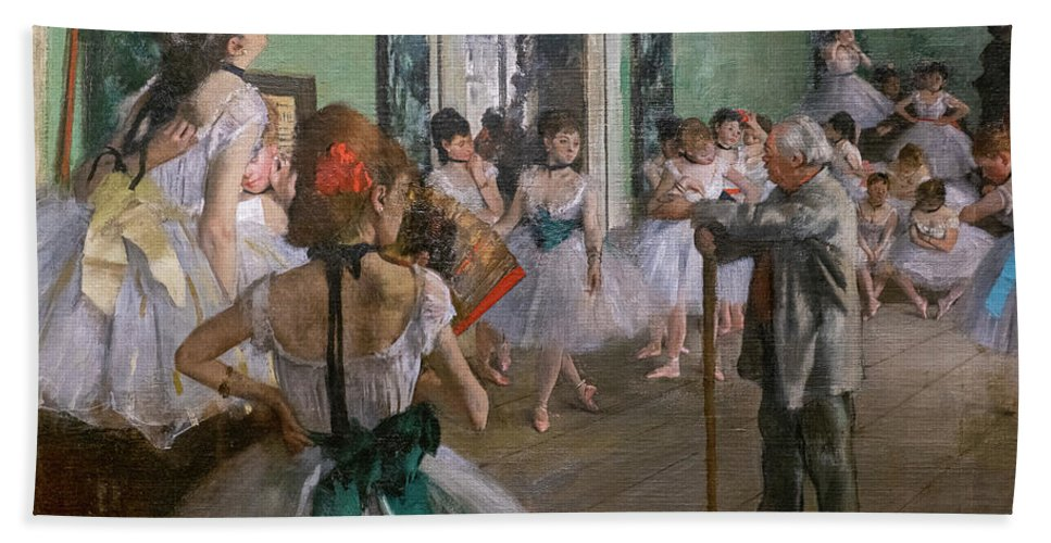 Dance Bath Towel featuring the painting Degas, The Dance Class Detail by Edgar Degas