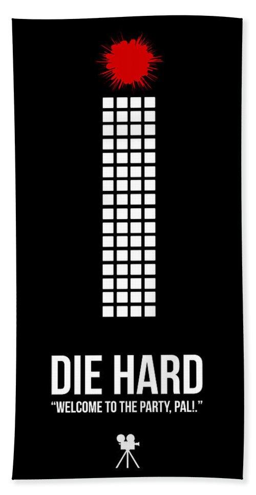 Die Hard Bath Towel featuring the digital art Die Hard by Naxart Studio