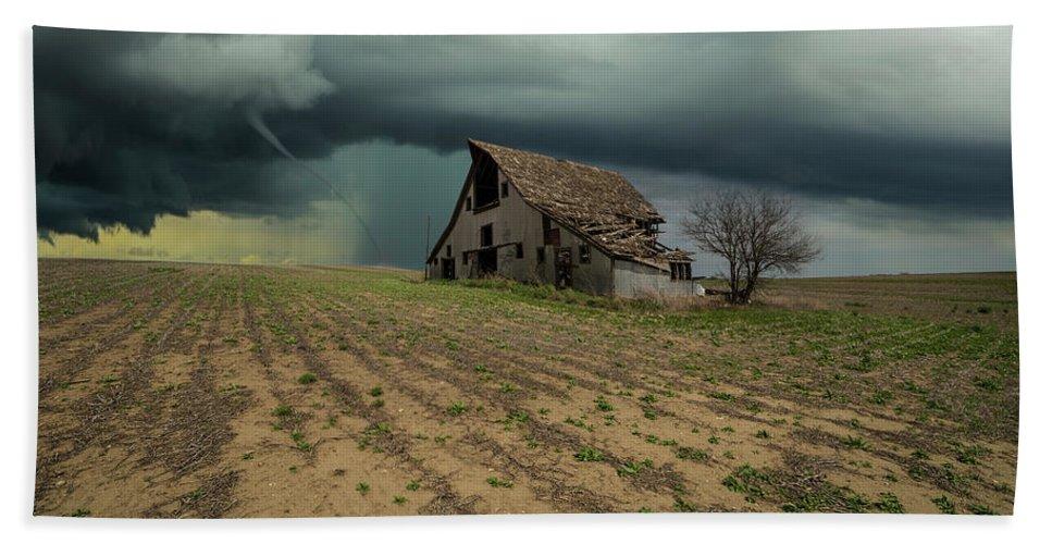 Tornado Bath Towel featuring the photograph Doomsday by Aaron J Groen