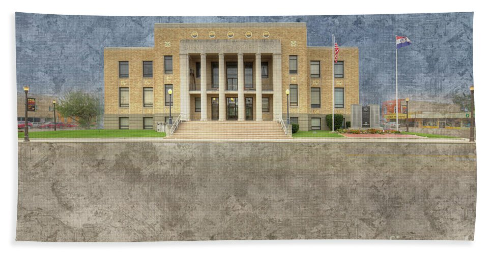 Hdr Bath Towel featuring the digital art Dunklin County Missouri by Larry Braun