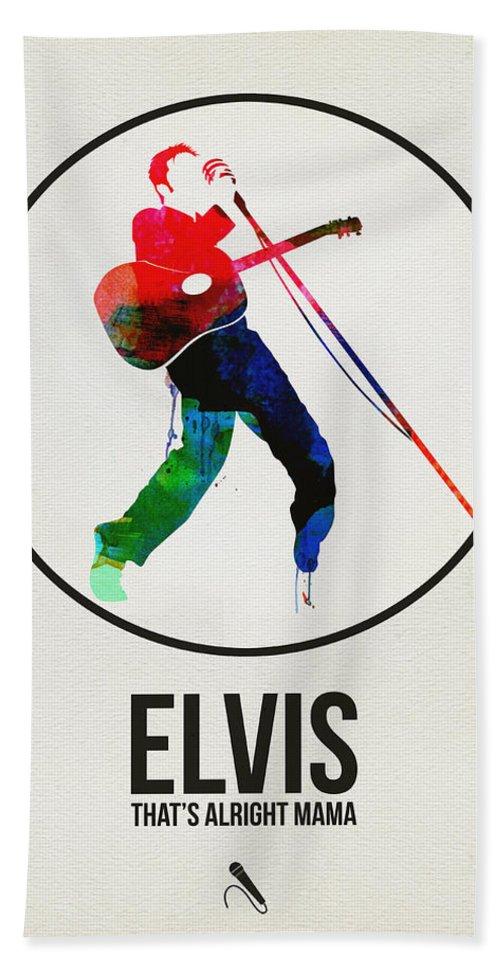 Elvis Presley Bath Towel featuring the digital art Elvis Presley Watercolor by Naxart Studio