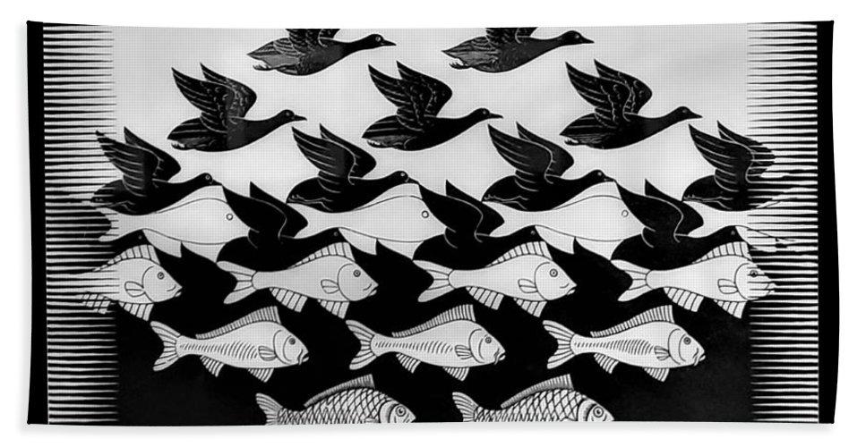 Maurits Cornelis Escher Bath Towel featuring the photograph Escher 115 by Rob Hans