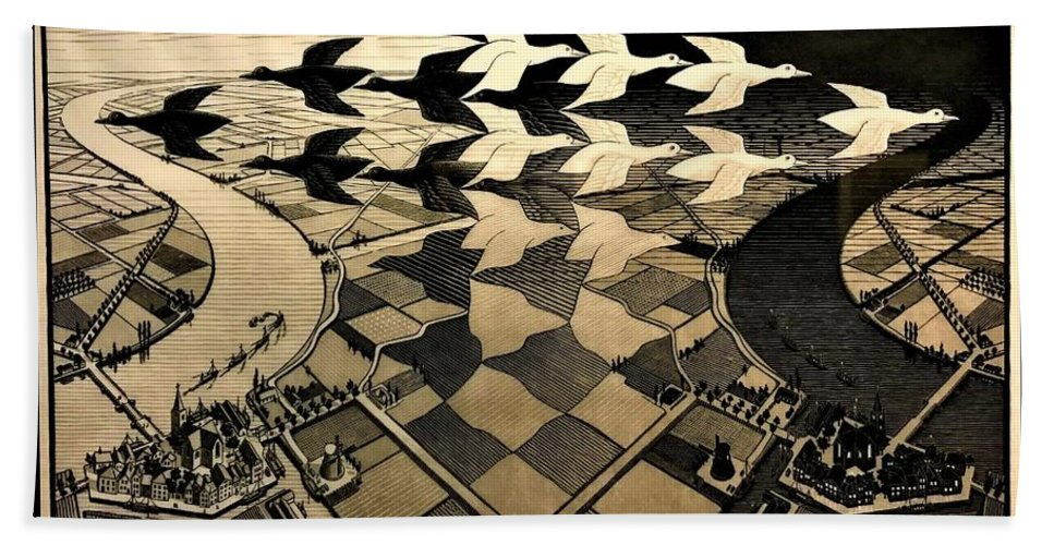 Maurits Cornelis Escher Hand Towel featuring the photograph Escher 116 by Rob Hans
