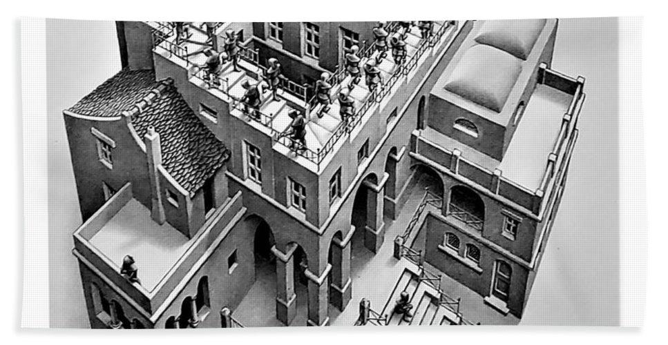 Maurits Cornelis Escher Hand Towel featuring the photograph Escher 129 by Rob Hans