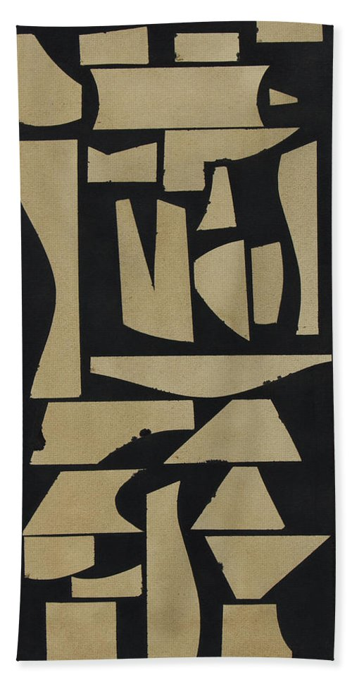 Abstract Bath Towel featuring the painting Finial I by Rob Delamater