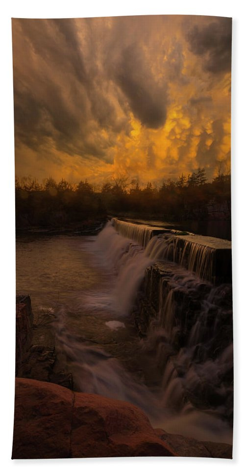 Fire Ky Bath Towel featuring the photograph Fire And Water by Aaron J Groen