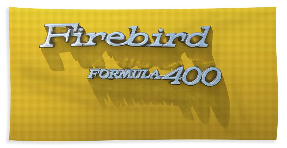General Motors Bath Towel featuring the photograph Firebird Formula 400 by Scott Norris