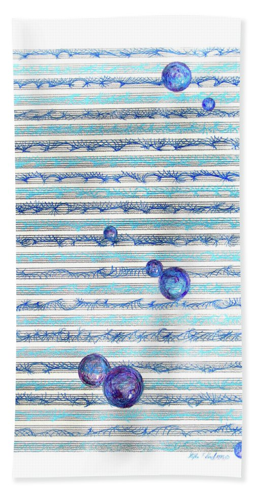 Music Hand Towel featuring the mixed media Floating Melody by Steve Karol