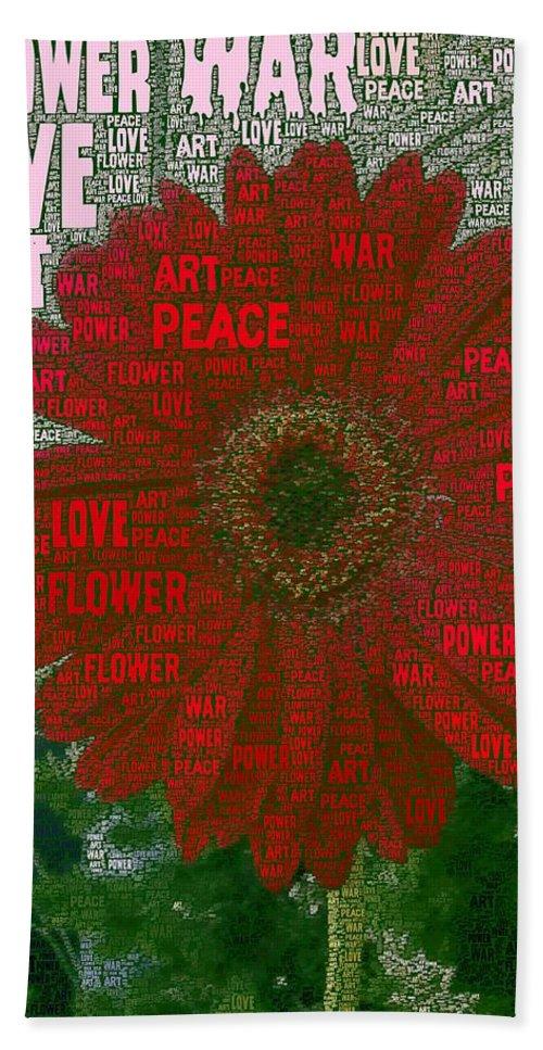 Mark J Dunn Hand Towel featuring the photograph Flower Power by Mark J Dunn