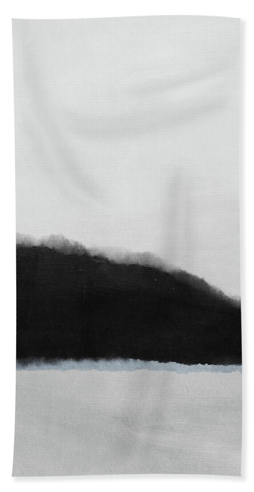 Abstract Hand Towel featuring the mixed media Grayscale 5- Abstract Art By Linda Woods by Linda Woods