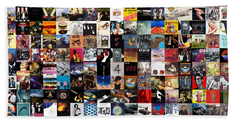 Album Covers Hand Towel featuring the digital art Greatest Album Covers of All Time by Zapista OU