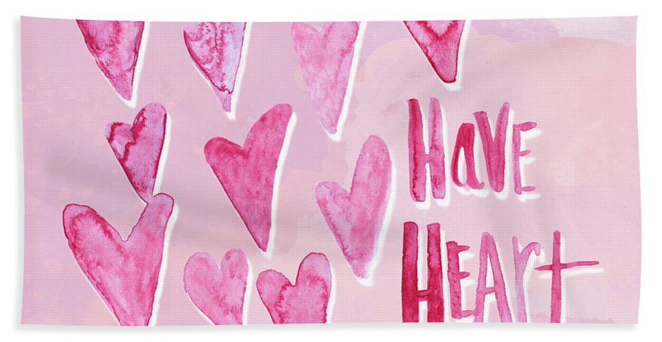 Have Bath Towel featuring the mixed media Have Heart by Sd Graphics Studio