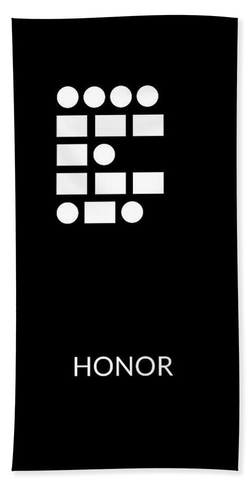 Honor Hand Towel featuring the digital art Honor Morse Code- Art By Linda Woods by Linda Woods