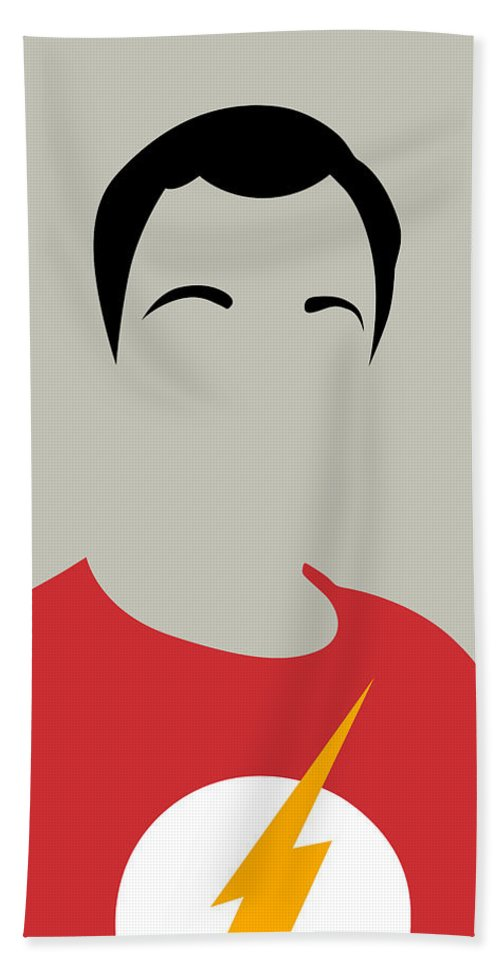Great Collection Of Minimalist Movie Posters. Classic Movies Bath Towel featuring the digital art Sheldon Portrait by Naxart Studio